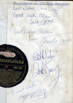 Oh Boy! Parlophone LP with autographs